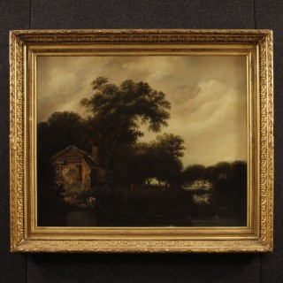 19th Century French Landscape Painting Signed Jablonsky