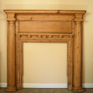 Regency period Carved Pine Fire Surround