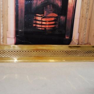 Regency Period fretted Brass Fender or Curb