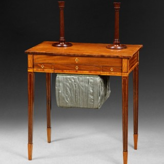 George III Period Mahogany and Inlaid Lady's Compendium Table