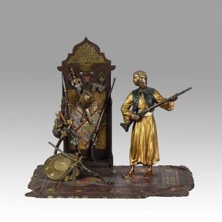 Arab Arms Dealer Vienna Bronze by Bergman