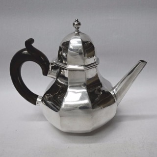 George I Silver Octagonal Teapot