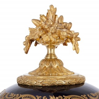 Ormolu mounted Sèvres style porcelain vase and cover