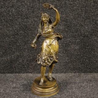 20th Century Signed Bronze Sculpture Depicting Spanish Dancer