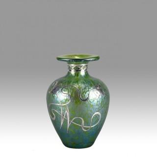 Loets Art Nouveau SIlvered Glass Vase