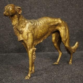 20th Century French Bronze Sculpture Depicting Greyhound