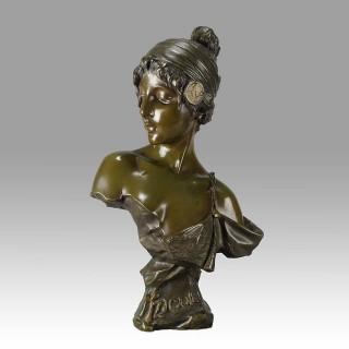 'Tzigane' - Art Nouveau Bronze by Villanis