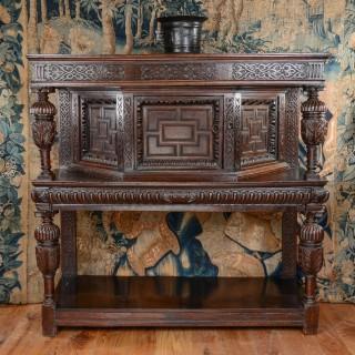 Elizabeth I oak livery cupboard