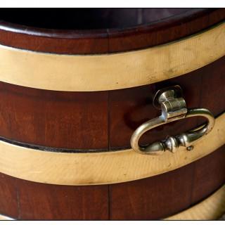 Antique brass bound wine wooler