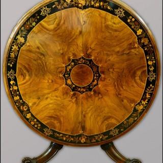 19th centuy walnut circular Centre Table