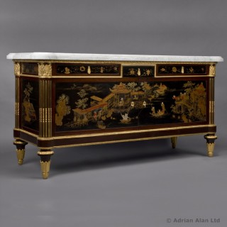 Louis XVI Style Purpleheart and Lacquered Commode