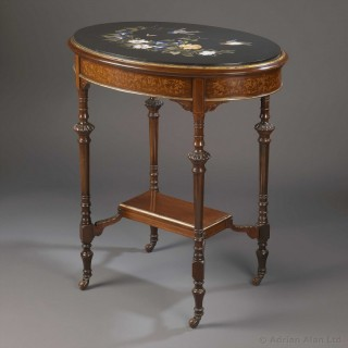 Victorian Occasional Table With An Ashford Marble Top