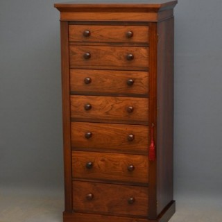 Early Victorian Wellington Chest in Rosewood