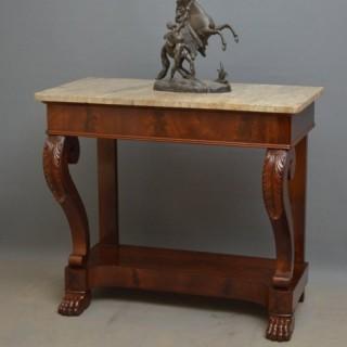 Continental Mahogany Console Table