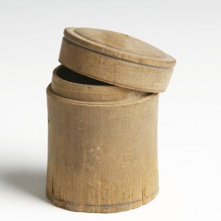 Rare Egyptian Wood Pyxis
