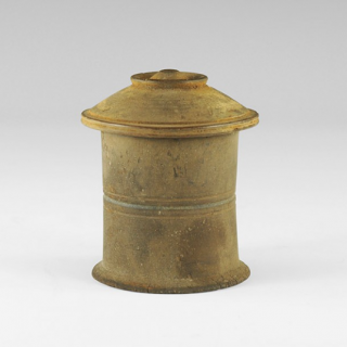 Egyptian Pyxis with Concentric Circles