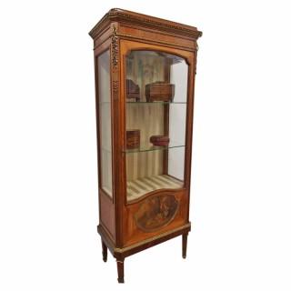 French Walnut Display Cabinet