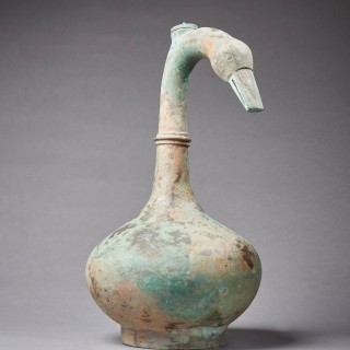 An Ancient Goose-Neck Vessel, China, Han Dynasty