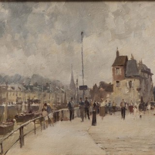 'The Harbour at Honfleur' Painting by Edward Seago
