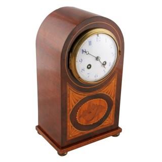 Edwardian Mahogany Cased Mantel Clock