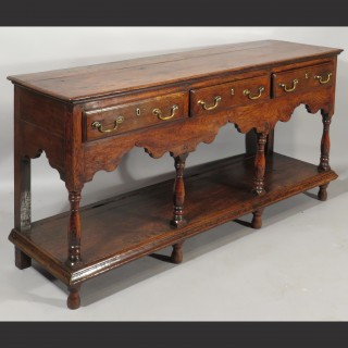 A Mid 18th Century Montgomeryshire Oak Pot Board Dresser Base