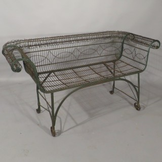 An English Regency Period Wirework Garden Love Seat