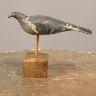 A Pair of Early 20th Century Painted Decoy Pigeons
