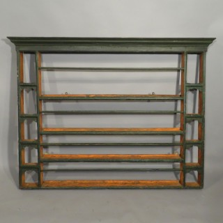 A George III Period Painted Delft Rack