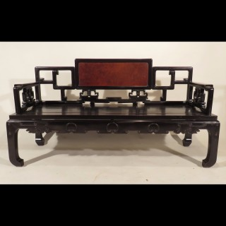 Late 19th Century Chinese Zitan Bench