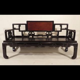 Late 19th Century Chinese Zitan Bench