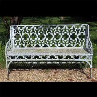 A Regency Period Cast Iron Garden Bench