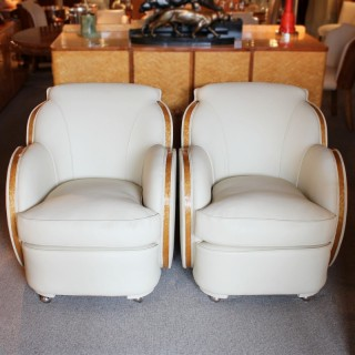 Art Deco Cloud Back Armchairs