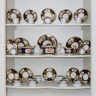 An early 19th century Ridgway porcelain tea service