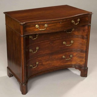 Georgian Kneehole Commode Dressing Table