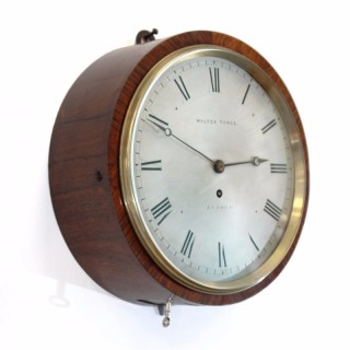 Rosewood Drum Clock by Walter Yonge, London