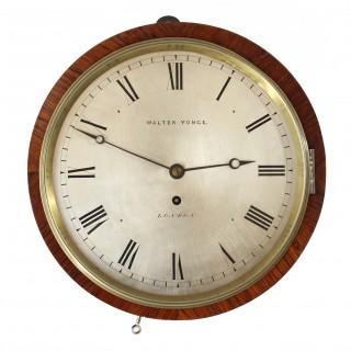 Rosewood Drum Clock by Walter Yonge, London