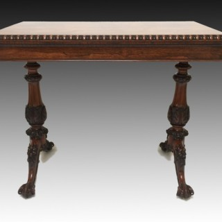 Antique George IV Rosewood Card Table Gillows