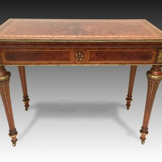 Antique Fine Quality Victorian Marquetry Card Table