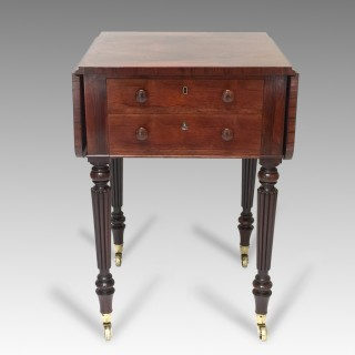 Antique William IV Rosewood Work Table Attributed To Gillows
