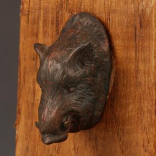 Roman Bronze Boar's Head Applique