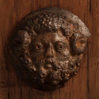 Scarce Roman Bronze Zeus-Ammon Applique
