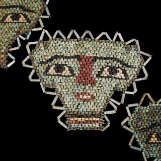Beaded Egyptian mummy masks