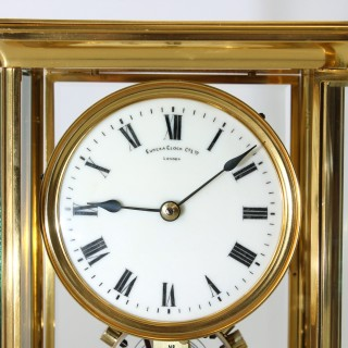 Eureka Gilded brass Four Glass Electric Clock