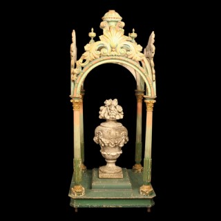 Italian Carved Wooden Processional Canopy
