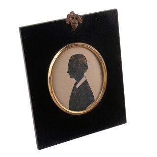 Victorian Silhouette of a Young Lady
