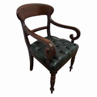 Early Victorian Mahogany Carver Chair
