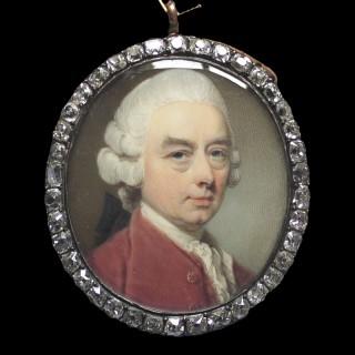 A Strong portrait miniature of a Nobleman