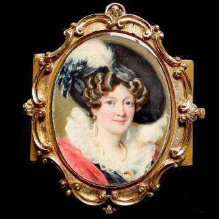 A fine portrait miniature of a Noble Lady