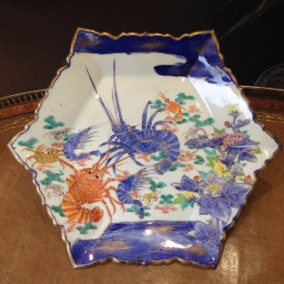 Japanese Imari 'Crustaceans' Plate