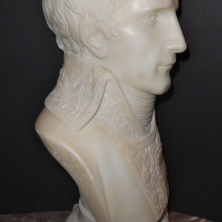 A French alabaster bust of Napoleon